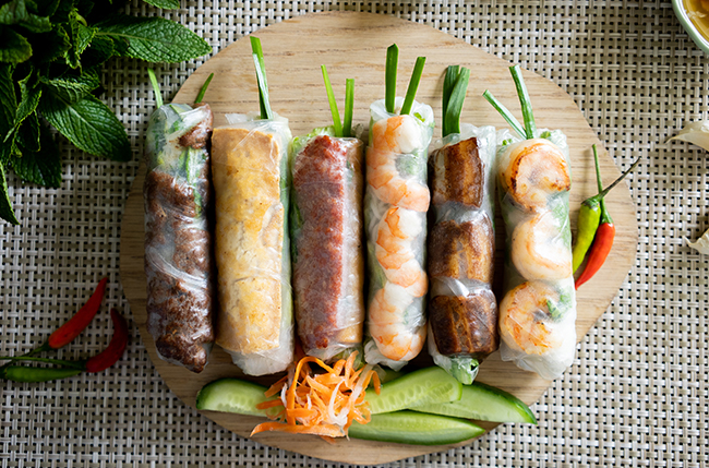 Spring Rolls Paper Rice Build Your Own